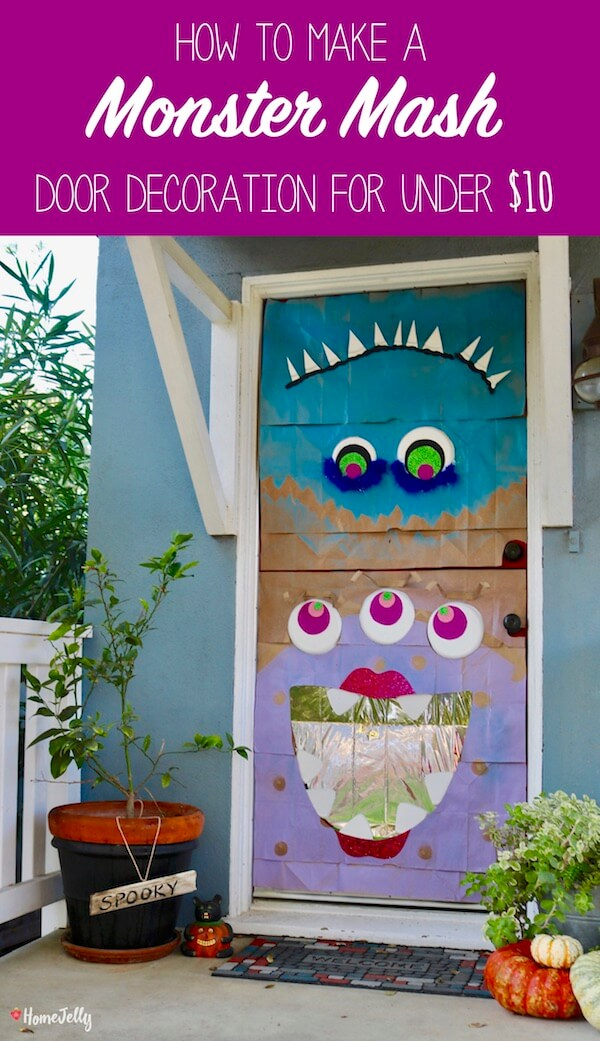 How to Make a Monster Mash Door Decoration for Under $10