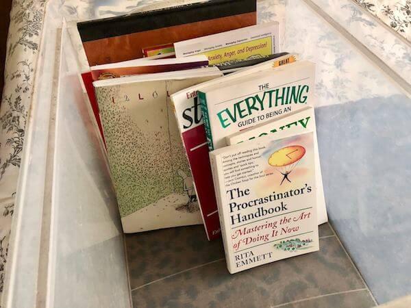 Donated books - the irony!