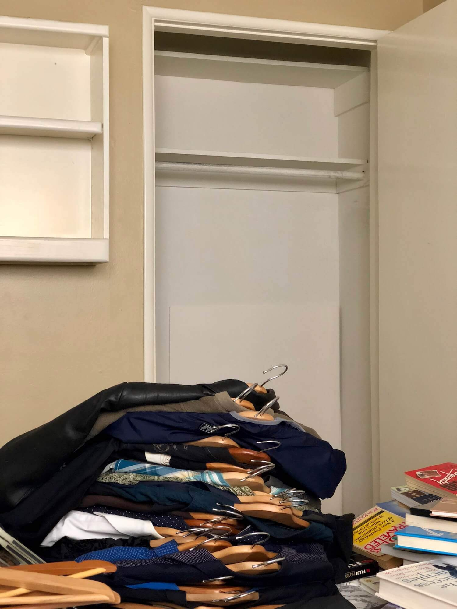 Empty out closets to sort