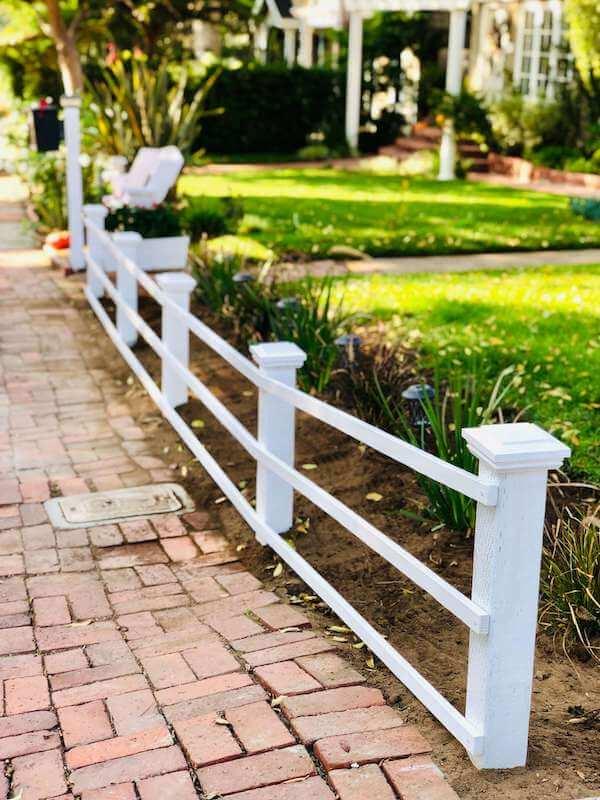 Finished garden fence