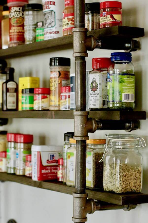 Spice rack with architectural appeal