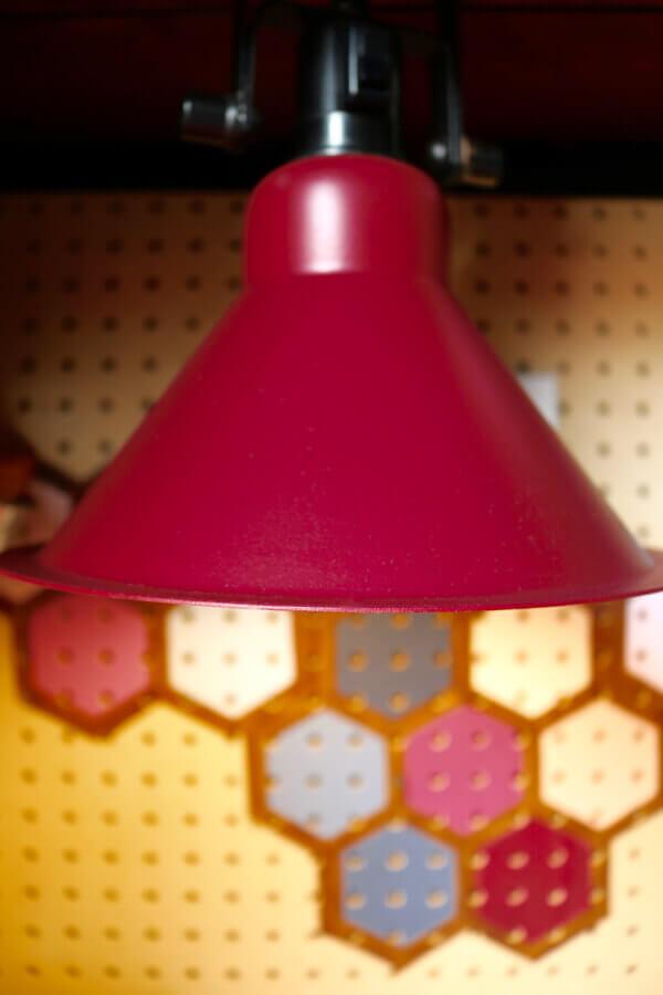 Custom painted shop light.