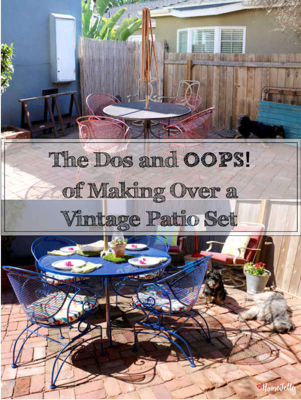The first step in pick-me-upping my patio was quite a learning curve