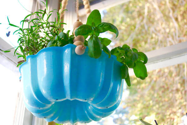 Drainage holes insure your herbs will be well-drained and happy!