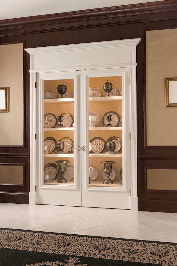 Pretty Simple hutch doors showcases this showcase