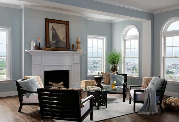 Essence series living room double hung windows