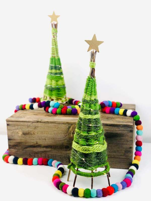 Weave your very own willow branch mini Christmas tree...they've got the spirit of Seuss!