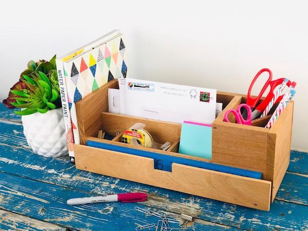 A DIY desk organizer that really organizes your stuff!